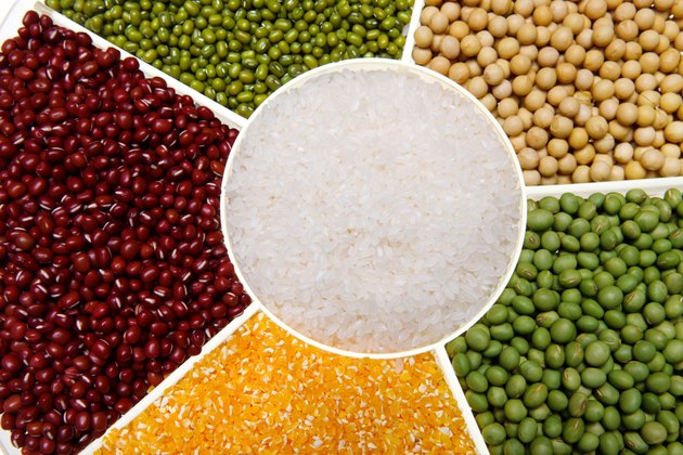 Rice,soybean,mung bean,corn,red bean and green bean