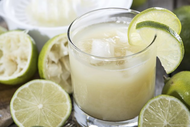 Glass filled with Lime Juice