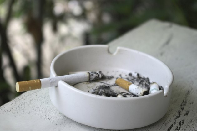 white ashtray