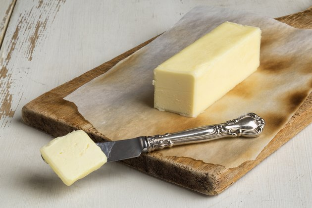 Butter on Rustic Background