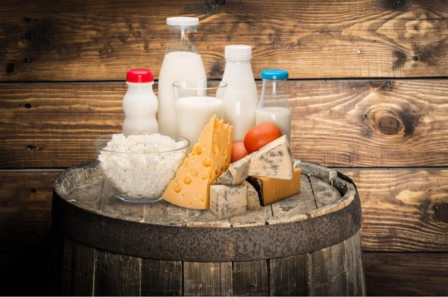 Dairy products, milk, cheese.