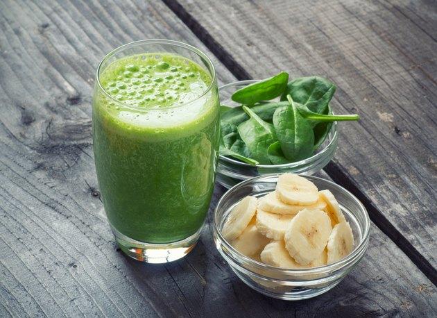 Green fresh healthy smoothie