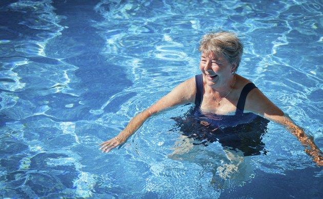 Senior Woman Swimming in the Pool