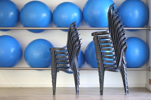 Fitness Balls and chairs.