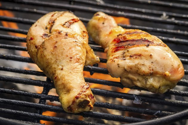 Barbecue Chicken at summer on grill