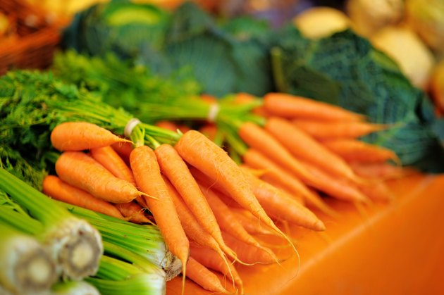 Fresh healthy bio fennel and carrots