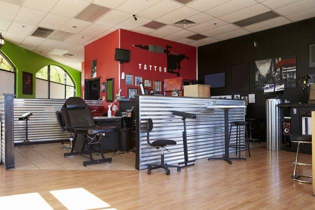 Interior Of Empty Tattoo Parlor