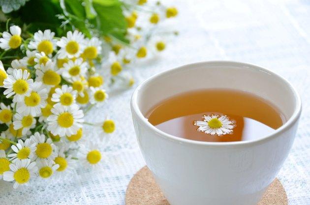 tea break with chamomile