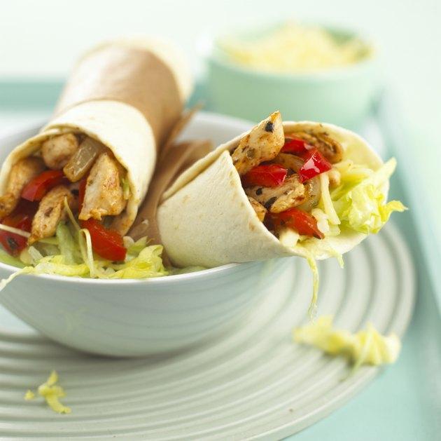 Tortilla wraps, close up