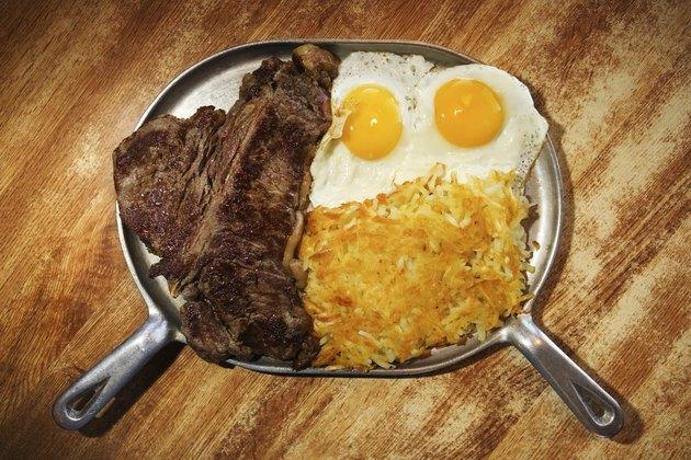 Plate of breakfast food