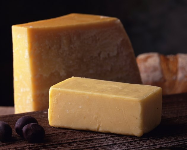 Epikure Cheese and Parmigiano Cheese, Close Up, Differential Focus