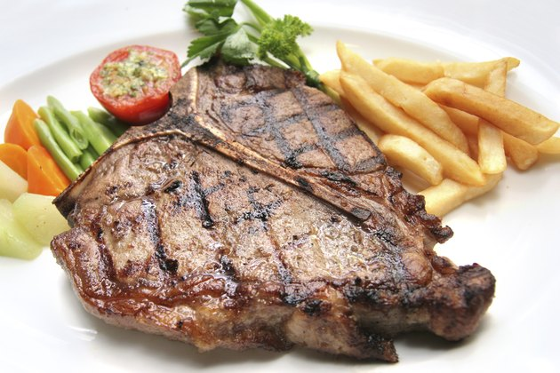 portion of t-bone steak