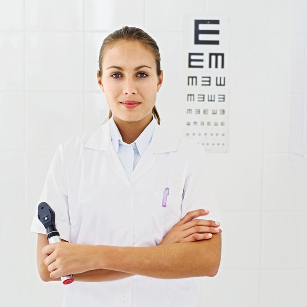 portrait of a young female optician