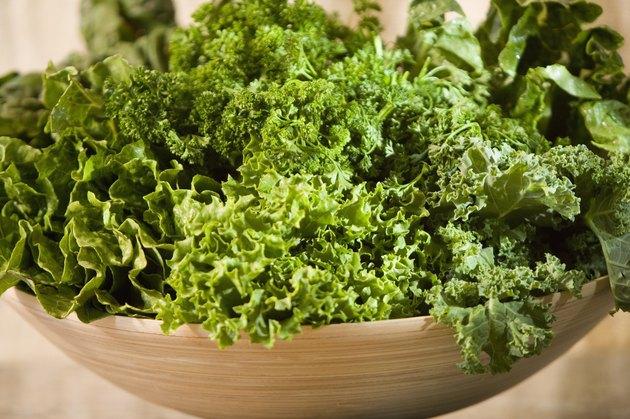 Large bowl of fresh greens