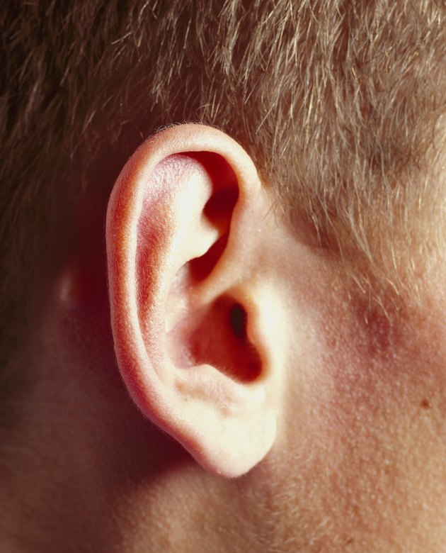 close-up of a person's ear