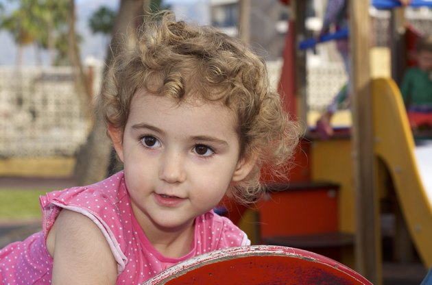 Young child at the playground