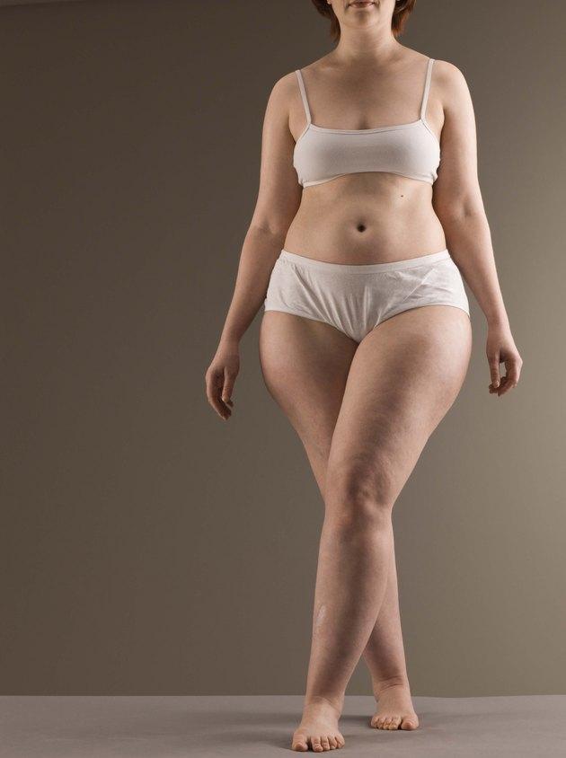 Curvaceous woman wearing underwear