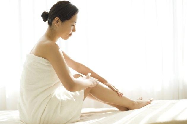Woman Taking Care of Skin