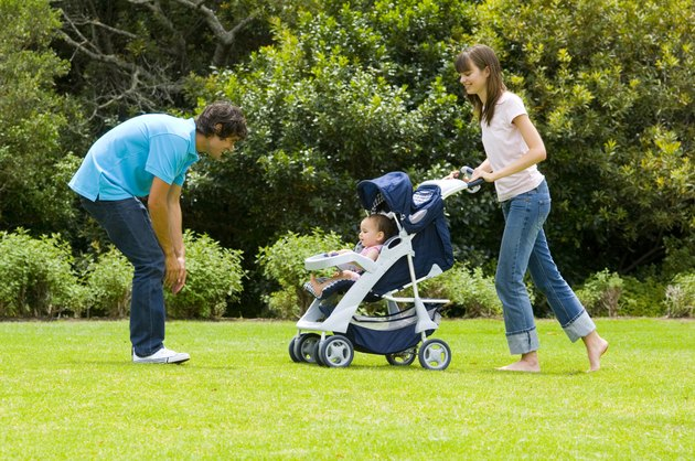 Family with a stroller