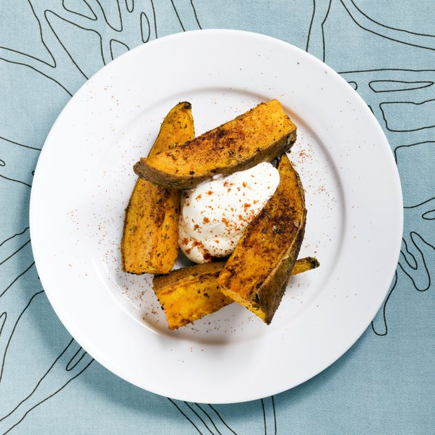 Sweet Potato Fries With Sour Cream Appetizer