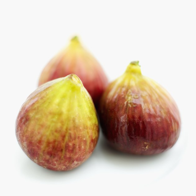 close-up of fresh figs on a plate
