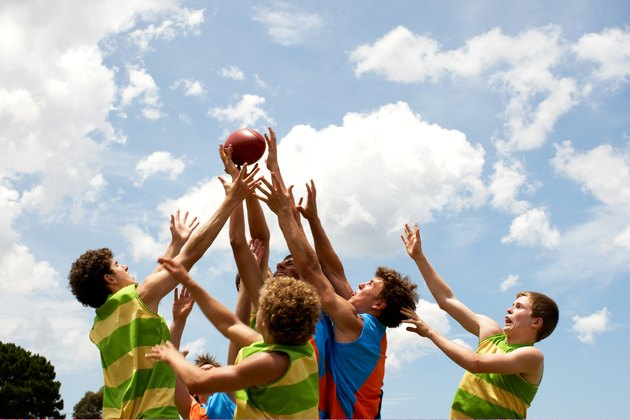 Players all competing for Australian football