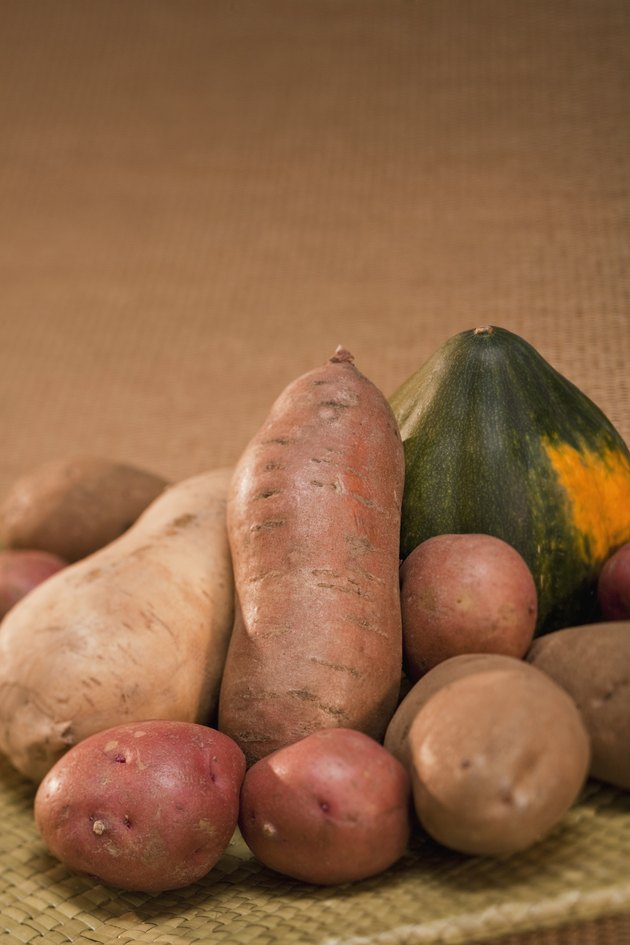 Potatoes, Sweet Potatoes and Acorn Squash