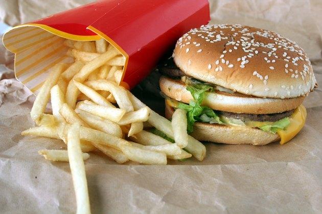 beefburger & frensh fries