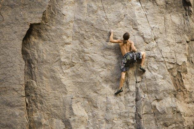 Rock Climber Bouldering