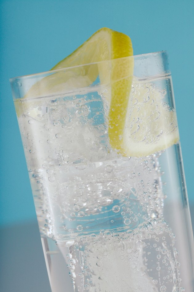Glass of water with lemon slice