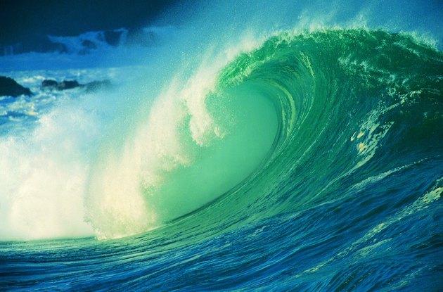 Underside of breaking wave