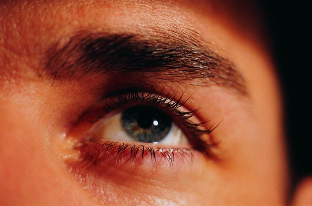 Man's left eye, looking upwards