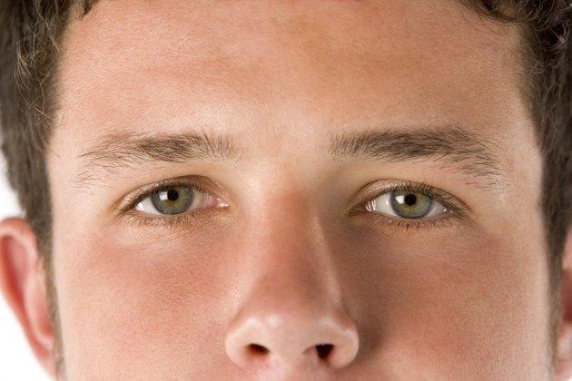 Close Up Teenage Boy's Eyes