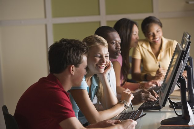 Students at computers