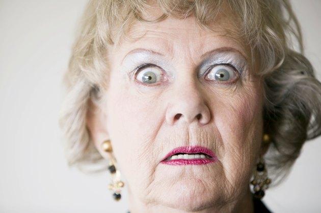 Horrified Senior Woman
