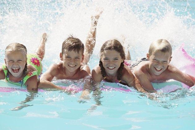 Children in a pool
