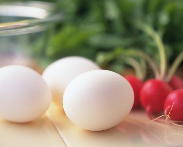 Eggs and Radish, Close Up