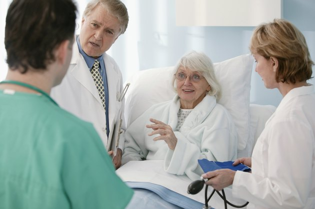 Conversation between doctors , nurse and patient