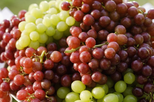 Succulent ripe grapes