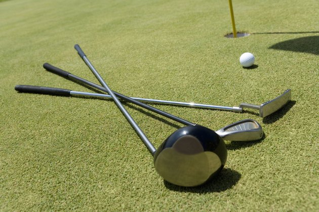 Golf Club and Ball on Green