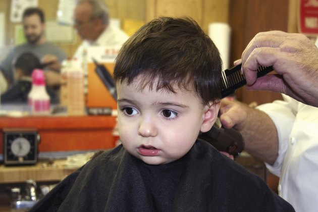 Boy At The Barbershop