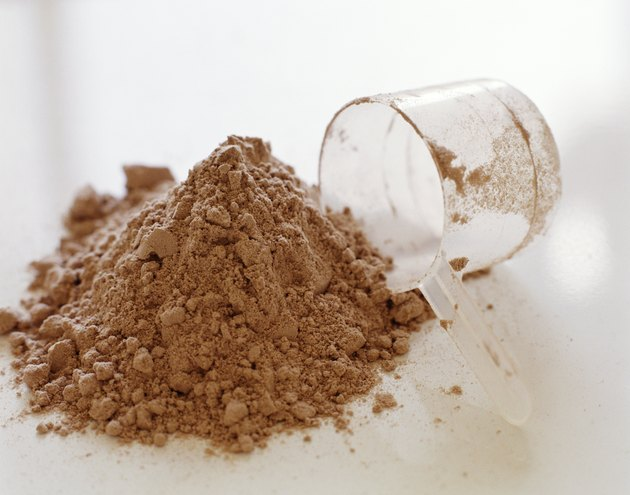 Protein powder and measuring cup