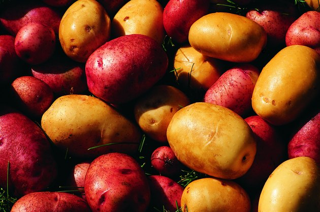 Red and gold potatoes