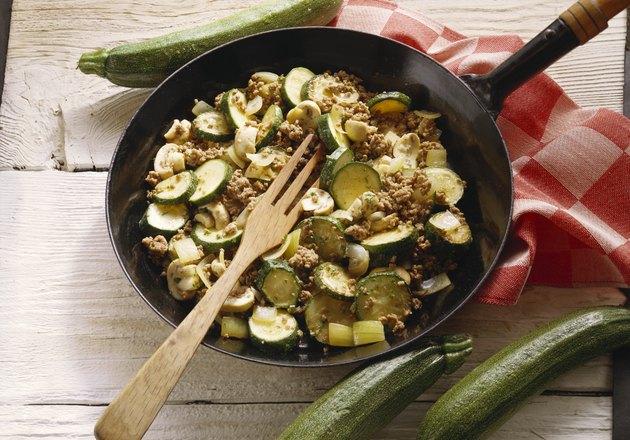 Ground Meat-Zucchini Pan Dish