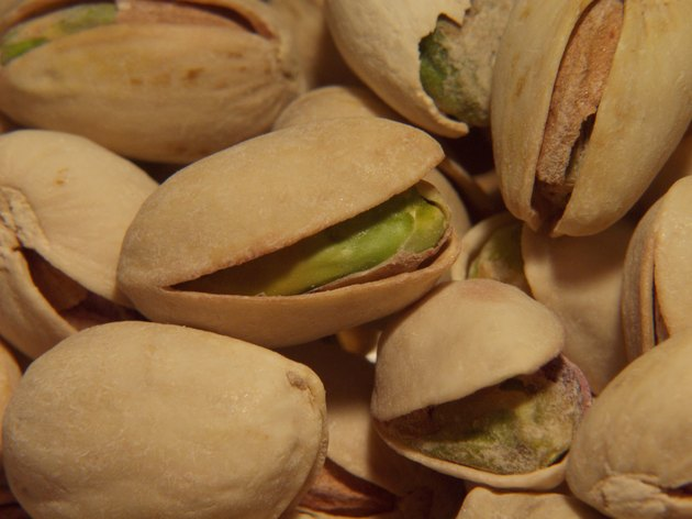 Close-up of pistachio nuts