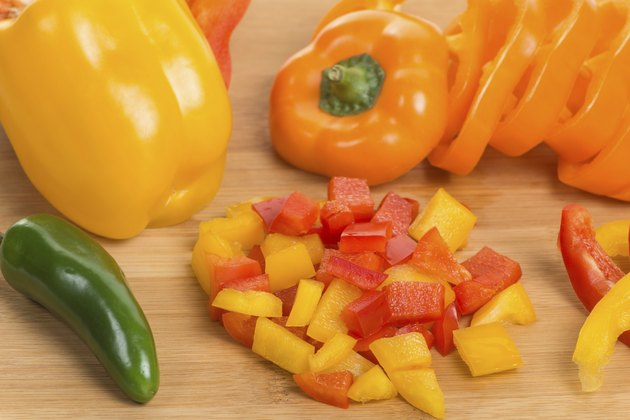 Diced Yellow and Red Bell Peppers