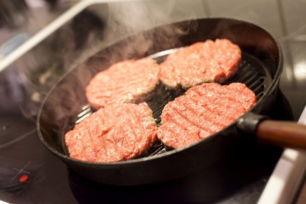 Frying Hamburgers
