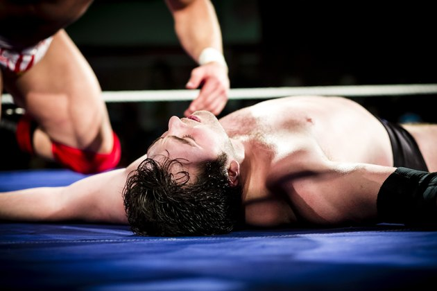 Wrestler in ring