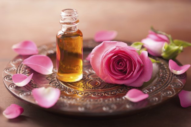 rose flower and essential oil. spa, aromatherapy