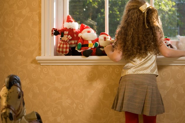 Girl waiting for Santa Claus